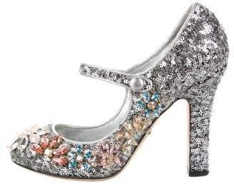 Dolce & Gabbana Embellished Sequin Pumps