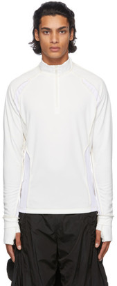 Hyein Seo Off-White Half-Zip Top