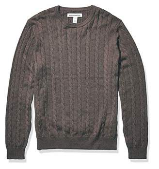 Amazon Essentials Crewneck Cable SweaterL