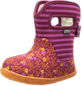 Bogs Baby Classic Flower Stripe Waterproof Winter & Rain Boot (Toddler)
