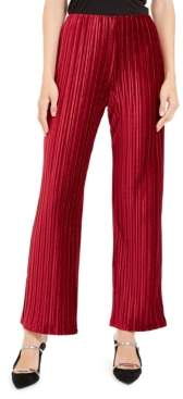 Alfani Petite Pleated Velvet Pants, Created For Macy's