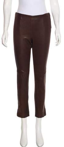 Kaufman Franco Kaufmanfranco Leather-Accented Mid-Rise Pants