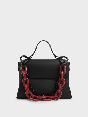 Charles & Keith Double Chain Link Bag