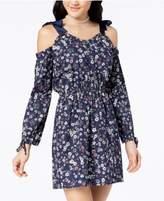 Ultra Flirt Juniors' Printed Off-The-Shoulder Dress