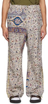 BEIGE paria /FARZANEH Iranian Print Trousers