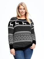 Old Navy Reindeer-Graphic Plus-Size Sweater