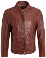 Gipsy Coben Lakev Leather Jacket Dark Cognac
