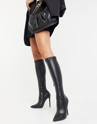 Public Desire Ambition stiletto knee boot in black