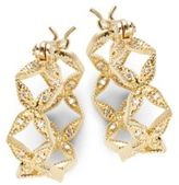 Mizuki Sea Of Beauty Diamond & 14K Gold Hoop Earrings- 0.75in