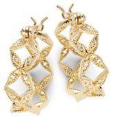 Mizuki Sea Of Beauty Diamond & 14K Gold Hoop Earrings- 0.75in