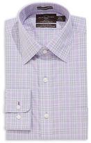 Black Brown 1826 Regular Fit Checkered Button-Up Dress Shirt