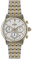 Rotary Gb02877/06 Monaco Chronograph Two Tone Bracelet Strap Watch, Silver/rose Gold