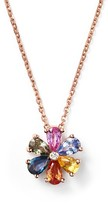 Bloomingdale's Multi Sapphire and Diamond Pendant Necklace in 14K Rose Gold, 16""
