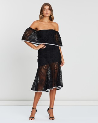 Atmos & Here Off Shoulder Lace Dress