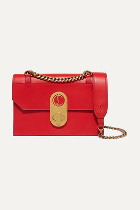 Christian Louboutin Elisa Small Leather Shoulder Bag - Red