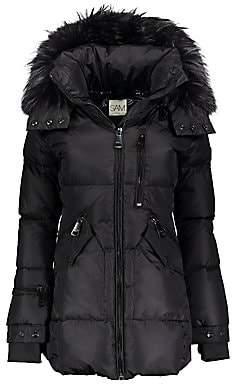 SAM. Women's Cruiser Fur-Trim Down Puffer Coat