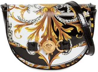 Versace Baroque Print Patent Leather Bag