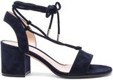 Gianvito Rossi Suede Lace Up Leather Sandals
