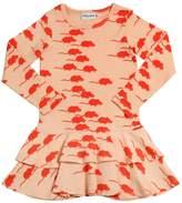 Mini Rodini Mouse Cotton Jersey Dress