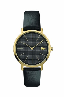 Lacoste Yellow Gold IP Quartz Watch with Leather Strap