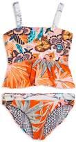 Maaji Girls' Florencia Sunset Reversible 2-Piece Tankini Swimsuit