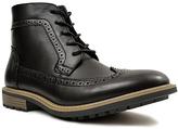 Hawke & Co Black Wingtip Boot
