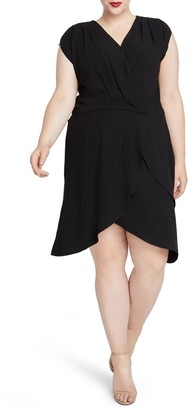 Rachel Roy Pierce Faux Wrap Dress (Plus Size)