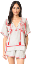 Ella Moss Marini Embroidered Blouse
