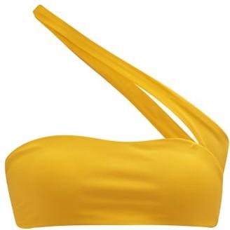 JADE SWIM Halo One-shoulder Bikini Top - Womens - Yellow