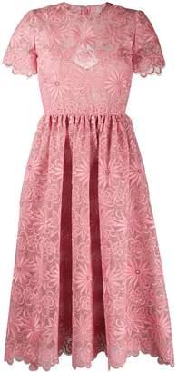 Valentino Garavani floral embroidery midi dress