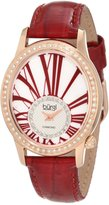 Burgi Women's BUR058RD Swiss Quartz Diamond Strap Watch