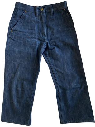 Studio Nicholson Blue Cotton Jeans