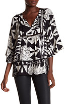 Plenty by Tracy Reese 3/4 Sleeve Front Tassel Blouse