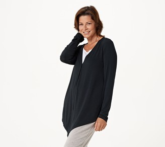 Cuddl Duds Softwear with Stretch Handkerchief Hem Cardigan