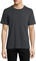 Billy Reid Washed Pocket Crewneck T-Shirt