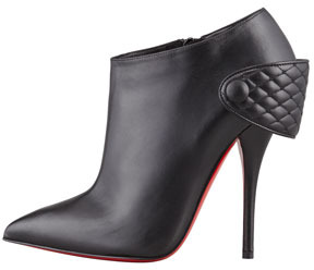 Christian Louboutin Huguette Leather Ankle Boot, Black