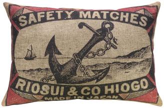 """Anchor Linen Pillow, 18""""x12"""""""
