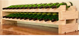 Wine Rack 24 2 Layers of 12 Bottle Width Finish: Natural Pine