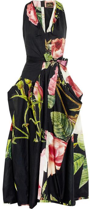 Vivienne Westwood Gladiator rose-print cotton dress