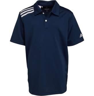 adidas Junior Boys 3-Stripes Tournament Golf Polo Collegiate Navy