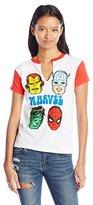 Marvel Junior's Group Shot Short Sleeve Ringer Graphic Fashion Tee