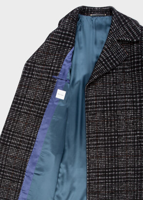 Paul Smith Men's Wool-Blend Check Double-Breasted Overcoat