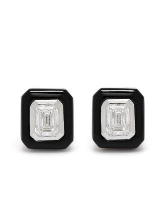 Monan 18kt White Gold Diamond Stud Earrings