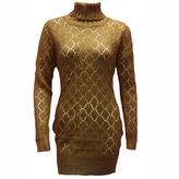 Paris Dreams Luxury Divas Long Sleeve Turtle Neck Tunic Sweater
