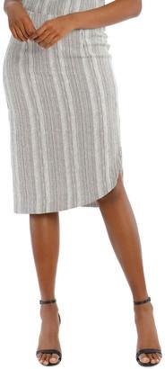 Wayne Cooper Asymmetrical Multi-Stripe Pencil Skirt