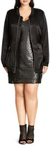 City Chic Silky Biker Jacket