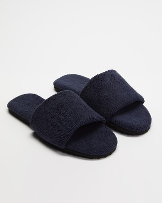 Staple Superior - Blue Sandals - Casablanca Terry Towelling Slides - Size M8/W10 at The Iconic