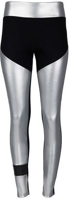Malaika New York Organic Cotton Tube Leggings Silver