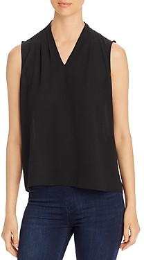 T Tahari Edie Sleeveless V-Neck Top
