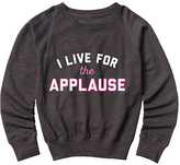 Heather Charcoal 'Live for the Applause' Slouchy Pullover - Girls